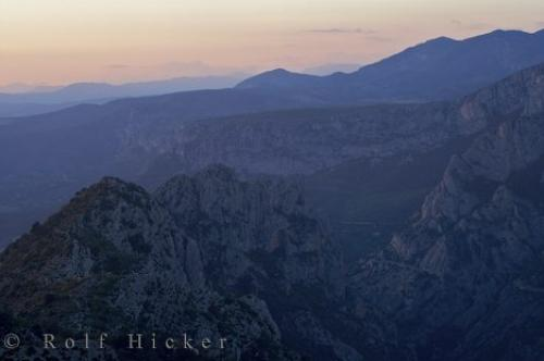 Photo Of The Beautiful Mountainous Landscape Gorges Du Verdon In Alpes De Haute Provence France At Sunset