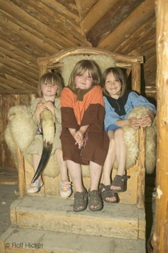 Viking Kids. Canada, Newfoundland, Northern Peninsula, Viking Trail, Vikings