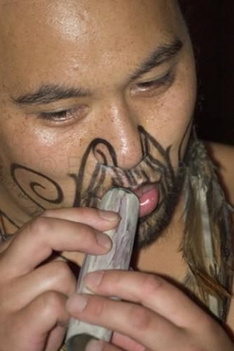 Stock photo path: Photos: New Zealand Pictures: Maori Tattoos