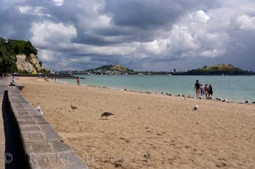 Photo:  New Zealand Beach Scene Mission Bay Auckland