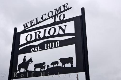 Orion Welcome Sign Alberta
