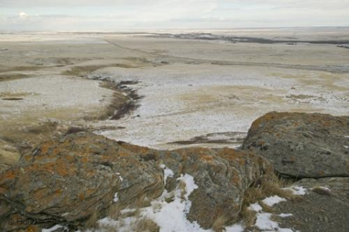 Photo:  head smashed in buffalo jump Winter View