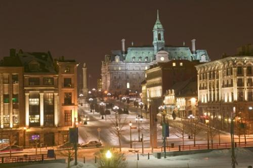 old montreal, place jacques cartier, city hall, montreal, quebec, canada