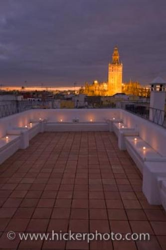Baños Aire De Sevilla | Rooftop Terrace Aire De Sevilla Andalusia Spain Photo Information