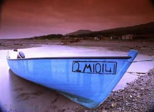 Photo of a small fishing boat along the Viking Trail, Newfoundland, Canada.