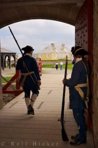Soldiers Uniform Louisbourg Fortress Nova Scotia
