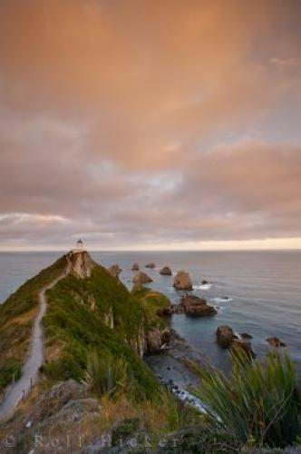 South Island Lighthouse Coastline Picture Nugget Point New Zealand
