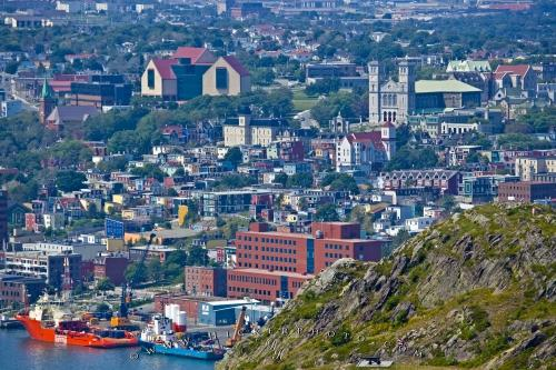 St Johns City Avalon Peninsula Newfoundland