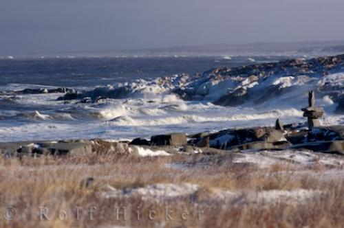 Stormy Hudson Bay Coastline Churchill Manitoba