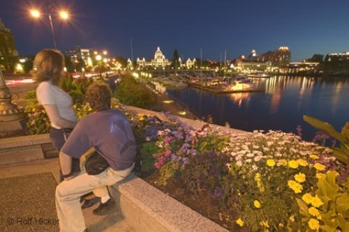 Tourists Overlooking Victoria Harbour