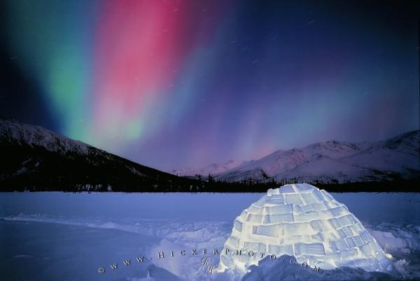 Northern Lights Igloo Alaska