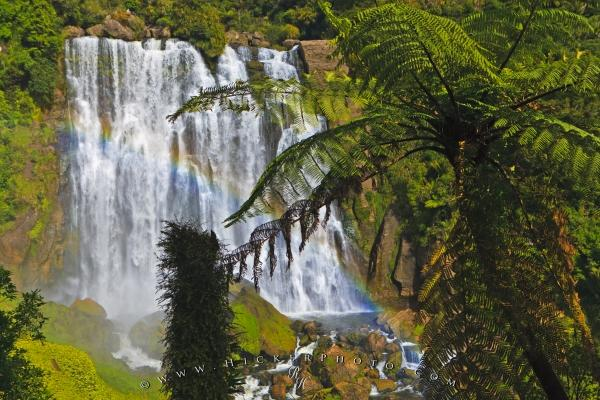 Beautiful Marokopa Falls Waikato Waterfall New Zealand