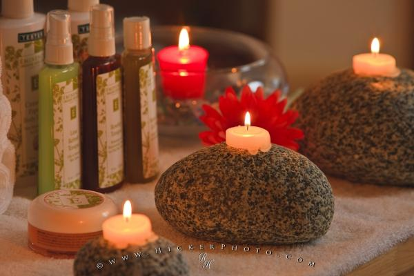 Photo:  Calming Candles West Coast Rocks Day Spa
