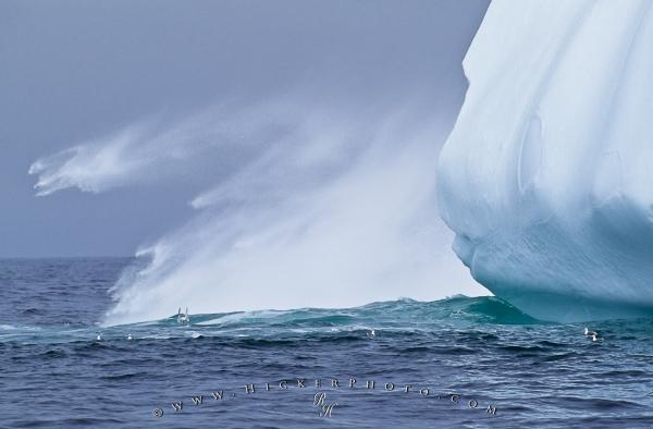 Picture Of A Calving Iceberg