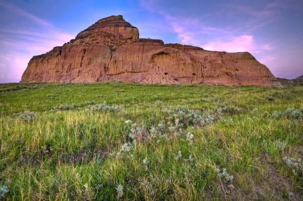 Castle Butte Big Muddy Badlands Saskatchewan Canada