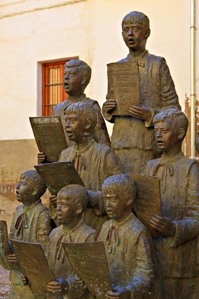 Photo:  Choir Statue Guadix Cathedral Andalucia Spain