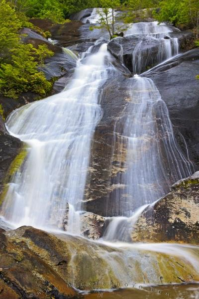 Coastal Mountain Waterfall Great Bear Rainforest British Columbia