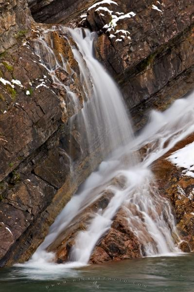 Photo:  Cool Water Details Waterfall Picture