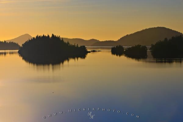 Scenic Island Sunset Reflections Picture