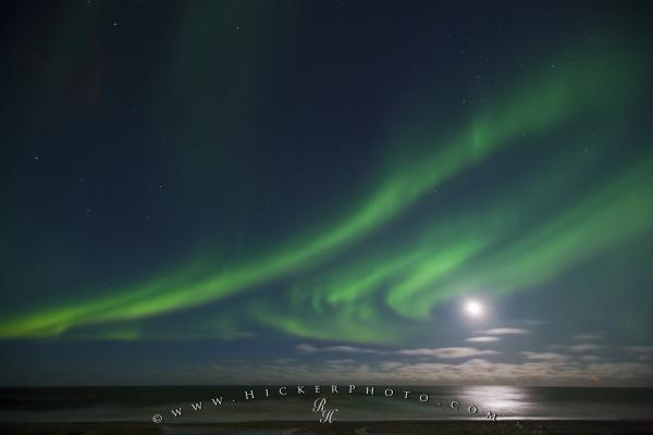 Moon Picture Northern Lights Hudson Bay Manitoba Canada