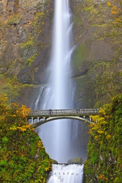 Fall Multnomah Falls Waterfall Oregon
