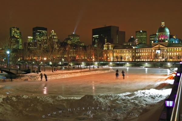 Ice Skating In Old Montreal