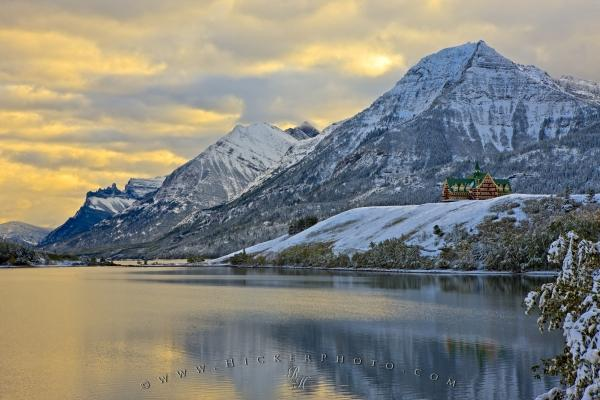 Scenic Winter Destination Waterton Lakes