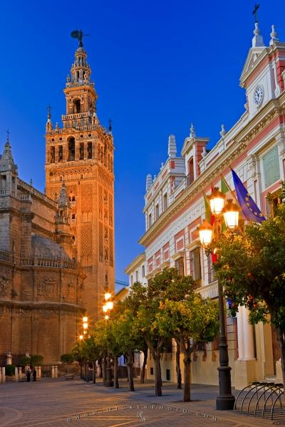 Photo:  Famous Tourist Attraction Cathedral Seville