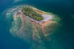 aerial fine art picture of sea scape in Lake Superior