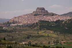 Picture of the ancient Castle of Morella in the province of Valencia Spain surrounded by the village of the same name