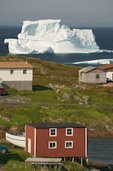 picture of a fishing stage in St. Juliens and iceberg