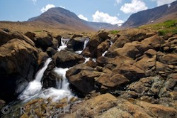 Picture of a waterfall along a trail in Gros Morne National Park in Newfoundland