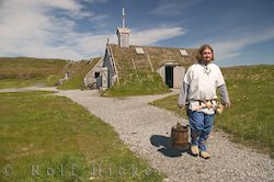 photo of a viking carrying water in norstead viking port