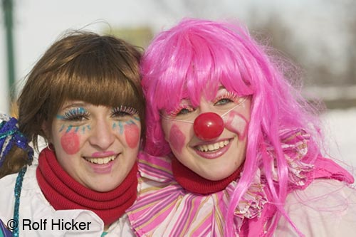 cute girls in clown costume