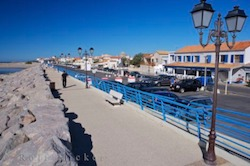 Picture of the waterfront in the town of Stes Maries de la Mer in the Camargue region of Provence France