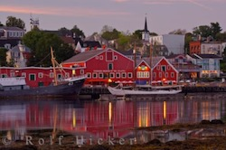 Picture of the harbour and museum in the old town of Lunenburg designated a UNESCO World Heritage Site in Nova Scotia, Canada.