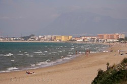 Picture of the sandy beach in Oliva Nova on the fringes of the Mediterranean Sea in the Province of Valencia Spain